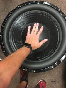 "That's a 24"" 120+ pound subwoofer prototype..."