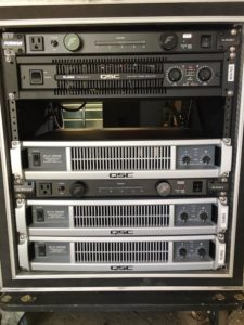 QSC Live Sound Amplifier Rack FOH