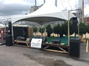 outdoor stage festival sound lighting