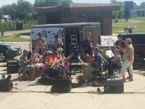 Live sound in Central Park for Make Music Madison