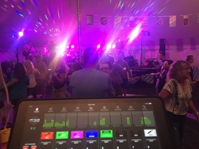 Live sound production lighting outdoor stage festival events madison wi dancing