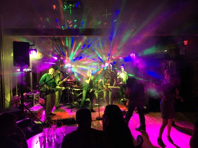 band smoke fog geyser lighting effects production stage sound light live music local band dance dane county