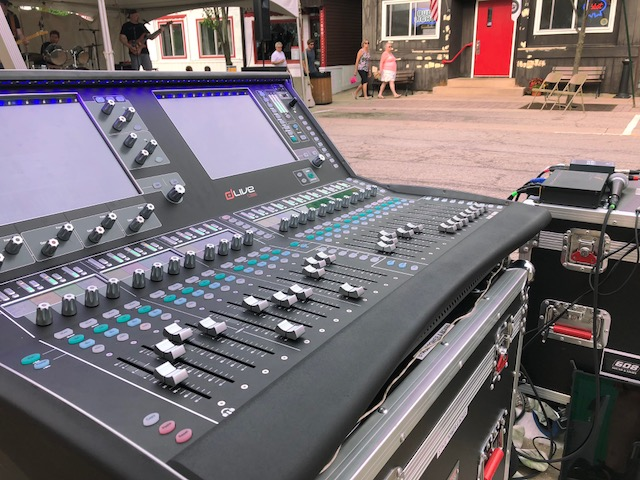 608 sound light allen heath mixing console festival outdoor music